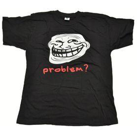 Funny vtipné tričko, problem? čierne