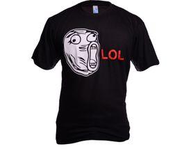 Funny vtipné tričko, meme face lol čierne