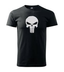 O&T krátke tričko Punisher, čierna 160g/m2