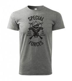 Tally tričko special forces sivé