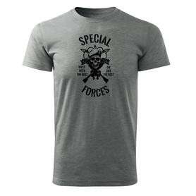 O&T krátke tričko special forces, sivá 160g/m2