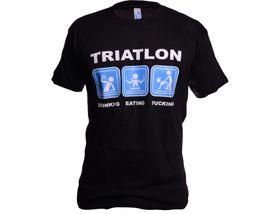 Funny vtipné tričko, triatlon čierne