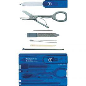 Victorinox SwissCard multifunkčná karta 10v1 modrá