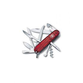 Victorinox vreckový nôž transparentný 91mm Huntsman červený