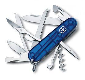 Victorinox vreckový nôž transparentný 91mm Huntsman modrý