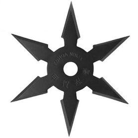 Vrhacia hviezdica, shuriken, 6 cípa, čierna