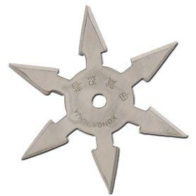 Vrhacia hviezdica, shuriken, 6 cípa, strieborná