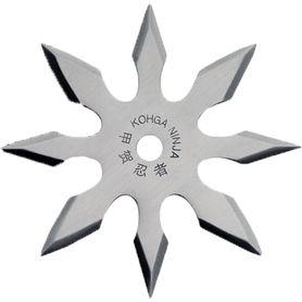 Vrhacia hviezdica, shuriken, 8 cípa, strieborná