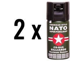 2 kusy obranný sprej, kaser, nato 40ml