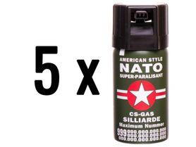5 kusov obranný sprej, kaser, nato 40ml