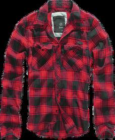 Brandit Checkshirt košeľa, červeno čierna