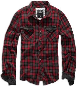Brandit Duncan košeľa, červeno hnedá