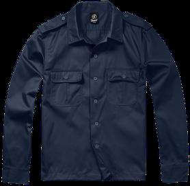 Brandit US košeľa s dlhým rukávom, navy