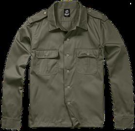 Brandit US košeľa s dlhým rukávom, olivová