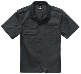 Brandit US košeľa s krátkym rukávom, čierna