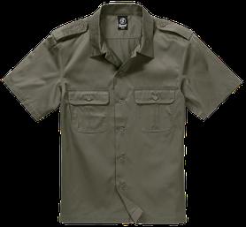 Brandit US košeľa s krátkym rukávom, oliv