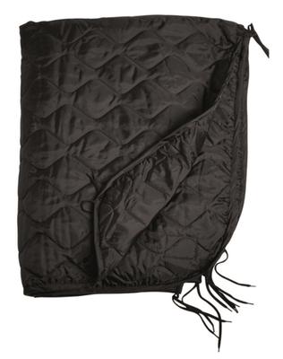 Mil-Tec deka vložka do ponča, čierna 210 x 150 cm
