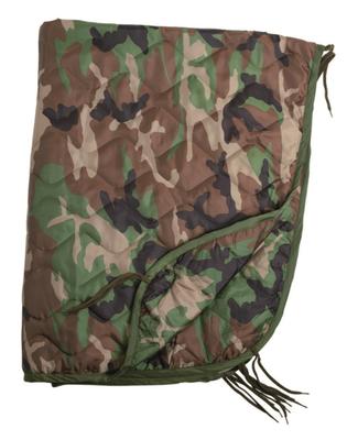 Mil-Tec deka vložka do ponča, woodland 210 x 150 cm