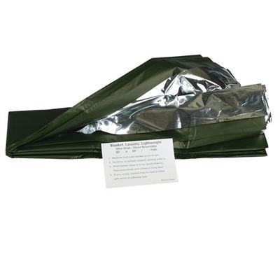 Mil-tec ochranná fólia, oliv/strieborná