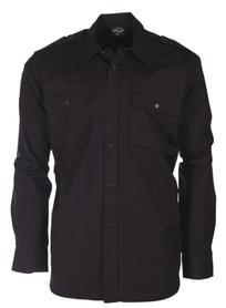 Mil-tec Ripstop košeľa s dlhým rukávom, čierna