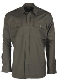 Mil-tec Ripstop košeľa s dlhým rukávom, olivová
