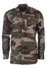 Mil-tec Ripstop košeľa s dlhým rukávom, woodland