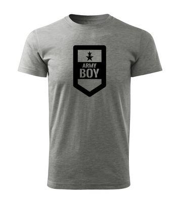O&T krátke tričko army boy, sivá 160g/m2