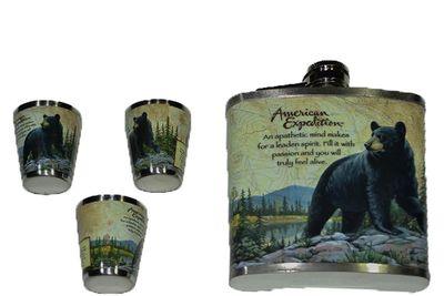 Pelan ploskačka s pohárikmi so vzorom medveďa 0,23L