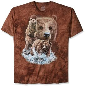 The Mountain 3D tričko 10 medveďov, unisex