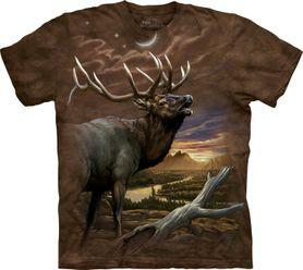 The Mountain 3D tričko jeleň, unisex