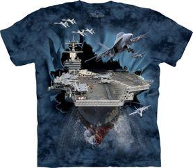 The Mountain 3D tričko lietadlová loď, unisex