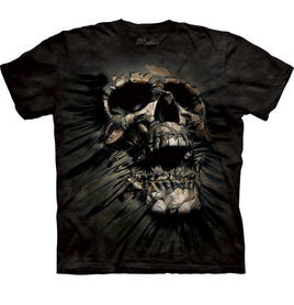 The Mountain 3D tričko s lebkou, unisex