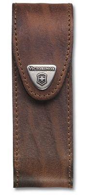 Victorinox púzdro kožené - dlhé hnedé do 111mm s 4 až 6 vrstvami