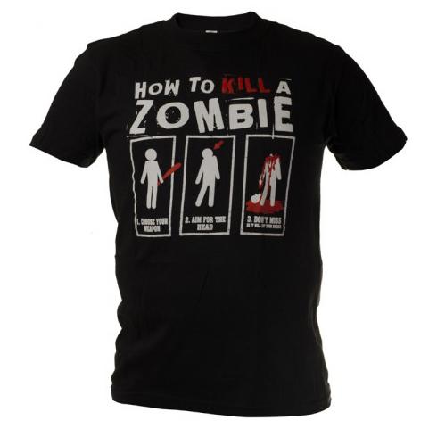 903cdd3d5d4a pozerá 17 návštevníkov Funny vtipné tričko ako zabiť zombie čierne zväčšiť  obrázok